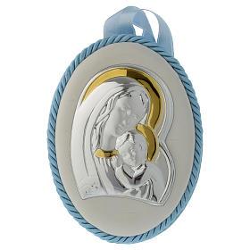 Capoculla azzurro con Madonna e Bambino, carillon s1