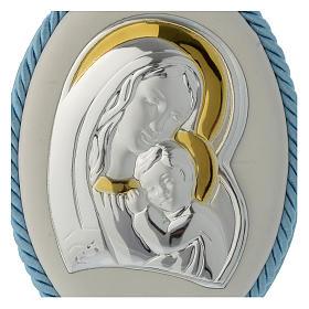 Capoculla azzurro con Madonna e Bambino, carillon s2