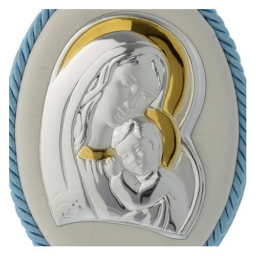 Capoculla azzurro con Madonna e Bambino, carillon 2