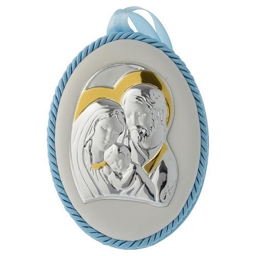 Medalla para cuna celeste S. Familia y Carillón 1