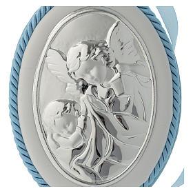 Medalion nad łóżeczko błękitny Anioł pozytywka s2