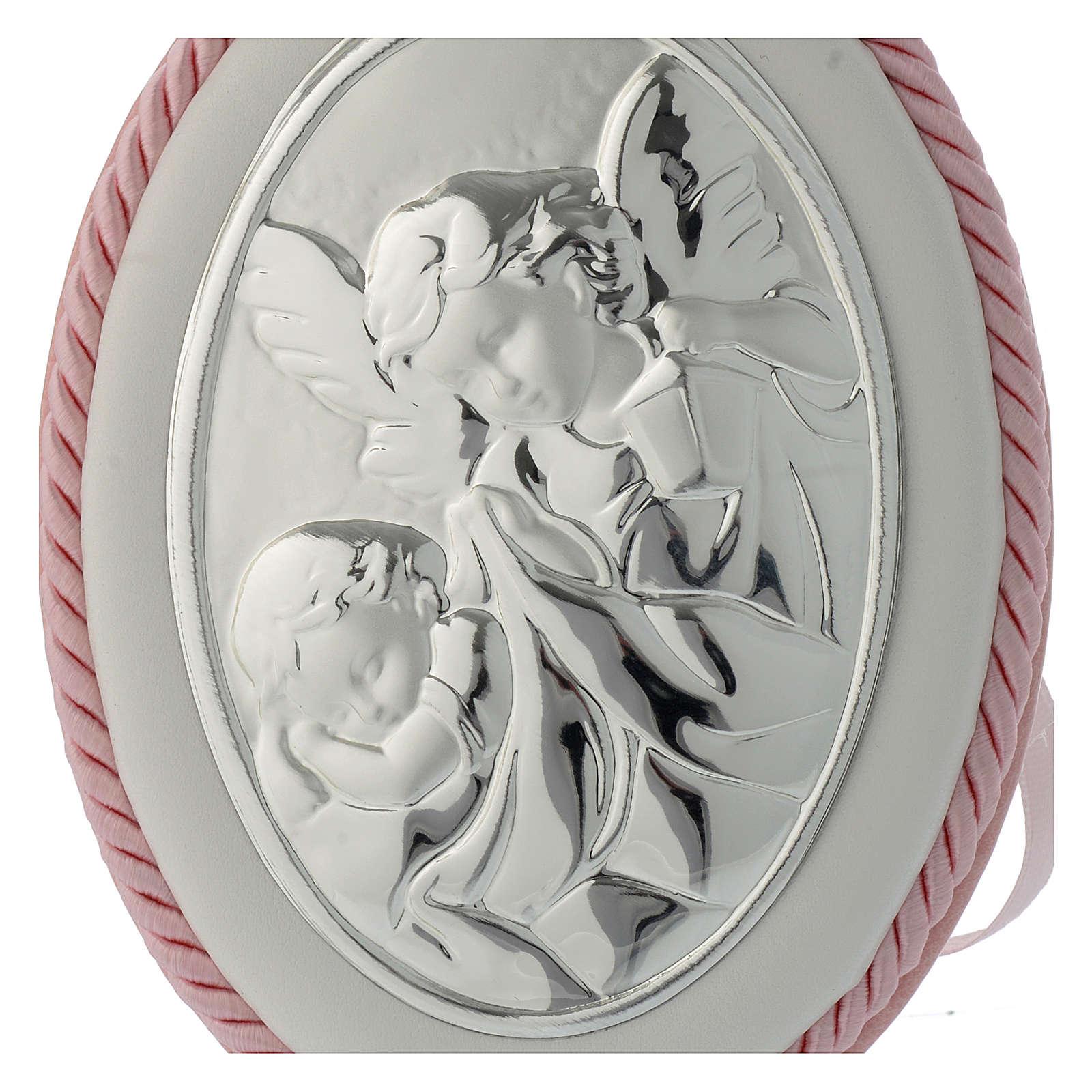 Medaglione sopraculla rosa Angelo custode carillon 4