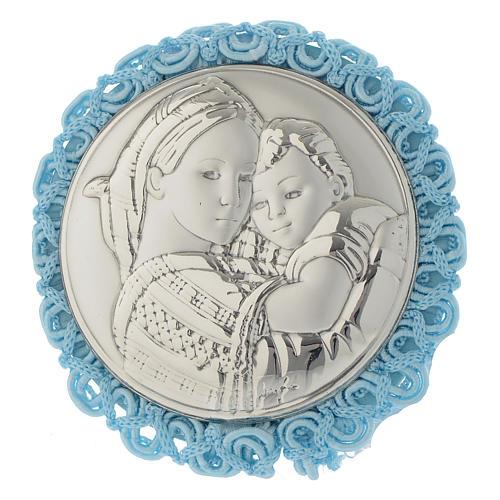 Medaglione tondo Madonna della Seggiola Carillon Azzurro 1