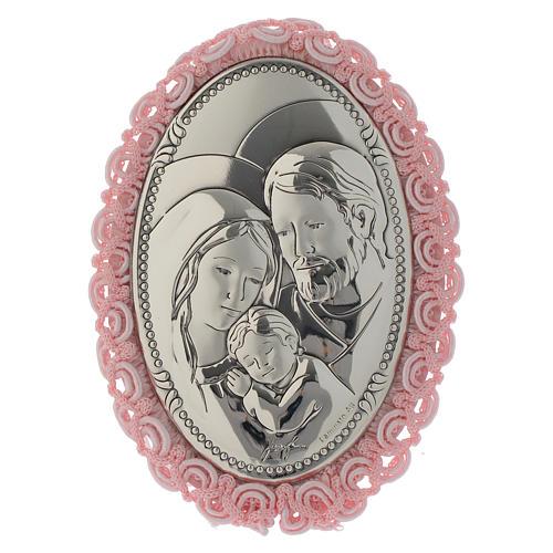 Capoculla Argento bilaminato S. Famiglia carillon rosa 1