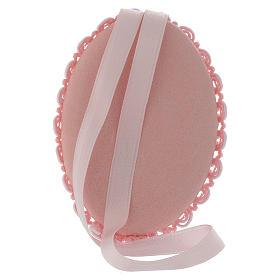 Medalha de berço prata bilaminada Maternidade caixa de música cor-de-rosa s2