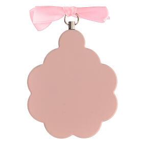 Pink flower angel ribbon cradle top s3