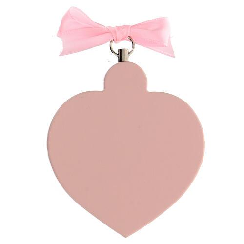 Souvenir médaille berceau coeur fille ange 3