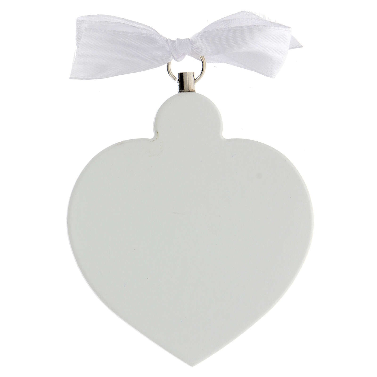 White heart with angel in prayer 4