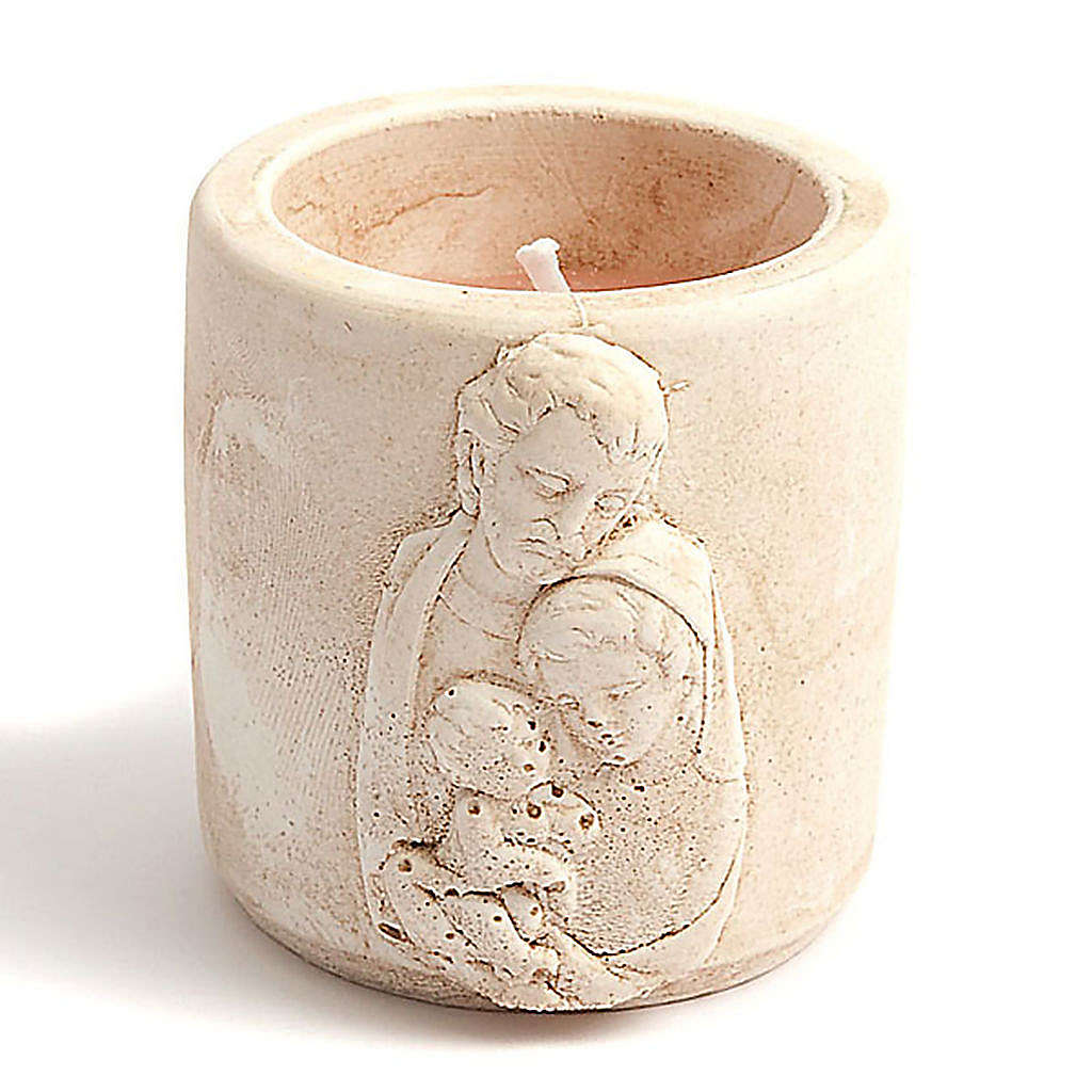 Scented-candle in terracotta vase 3
