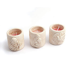Scented-candle in terracotta vase s1