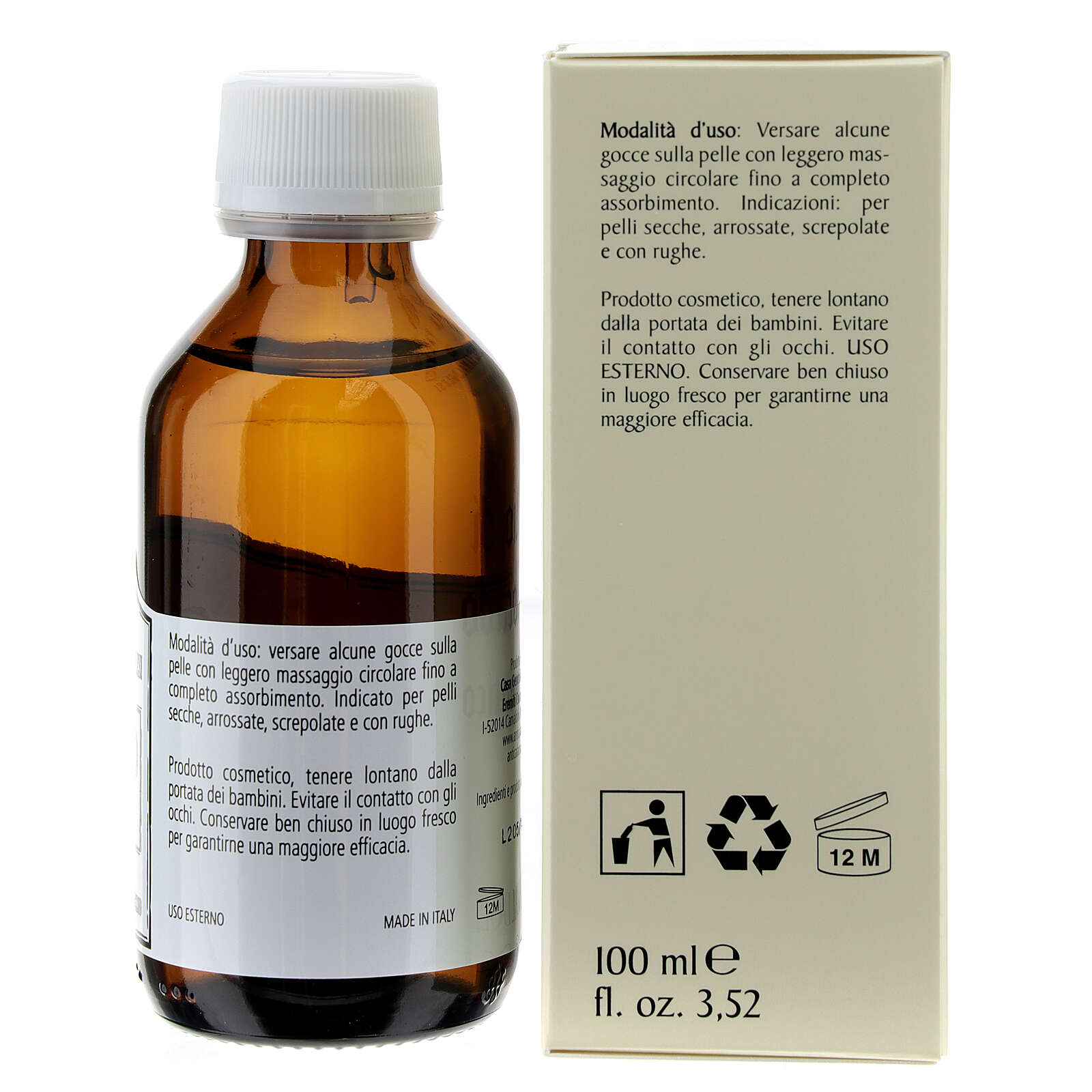 Aromatic Avocado Oil 100 ml, skin oil, Camaldoli 4