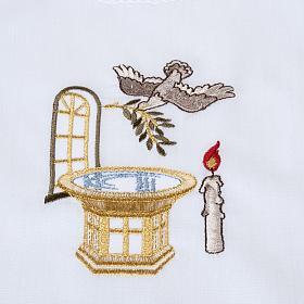 Camicino per Battesimo con fonte battesimale s2