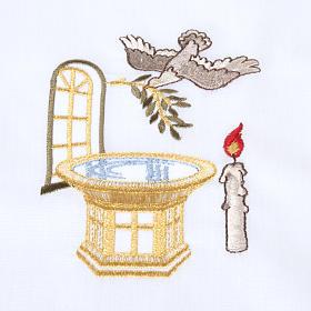 Camicino per Battesimo con fonte battesimale s4