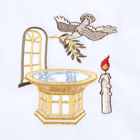 Camicino per Battesimo con fonte battesimale s3