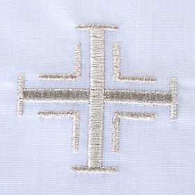 Traje de bautizo con cruz de color plata s4