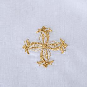 Traje de bautizo con cruz de color plata s6