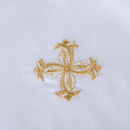 Traje de bautizo con cruz de color plata 6