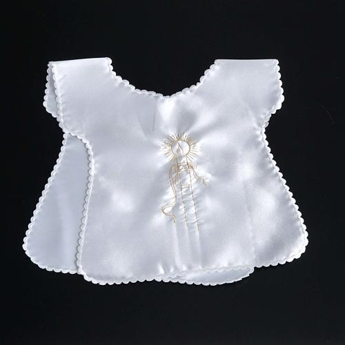 Baptismal gown in satin 5