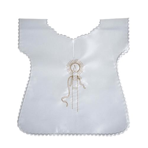 Baptismal gown in satin 2