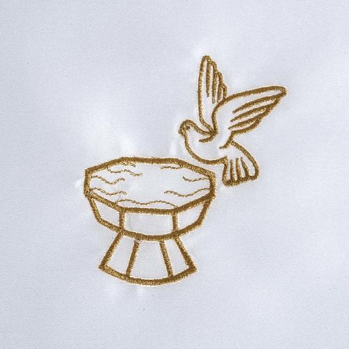 Vestina battesimo raso colomba fonte battesimale 2