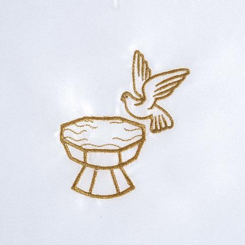 Vestina battesimo raso colomba fonte battesimale 3
