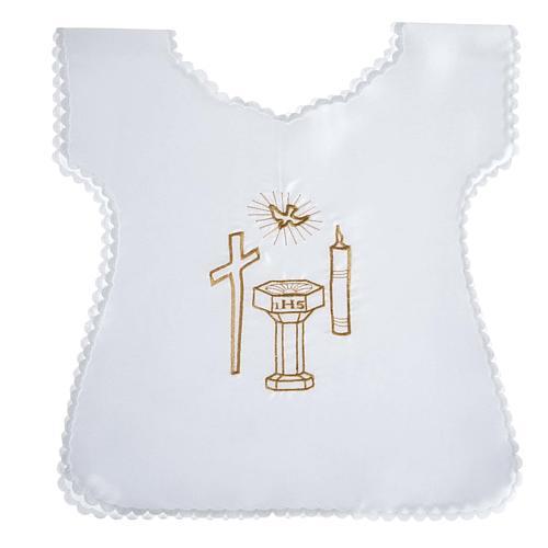 Vestido bautismo, cruz, vela y fuente 1