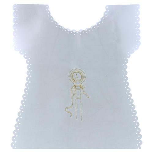 Vestina Battesimo in raso Cero oro 38X31 cm 1