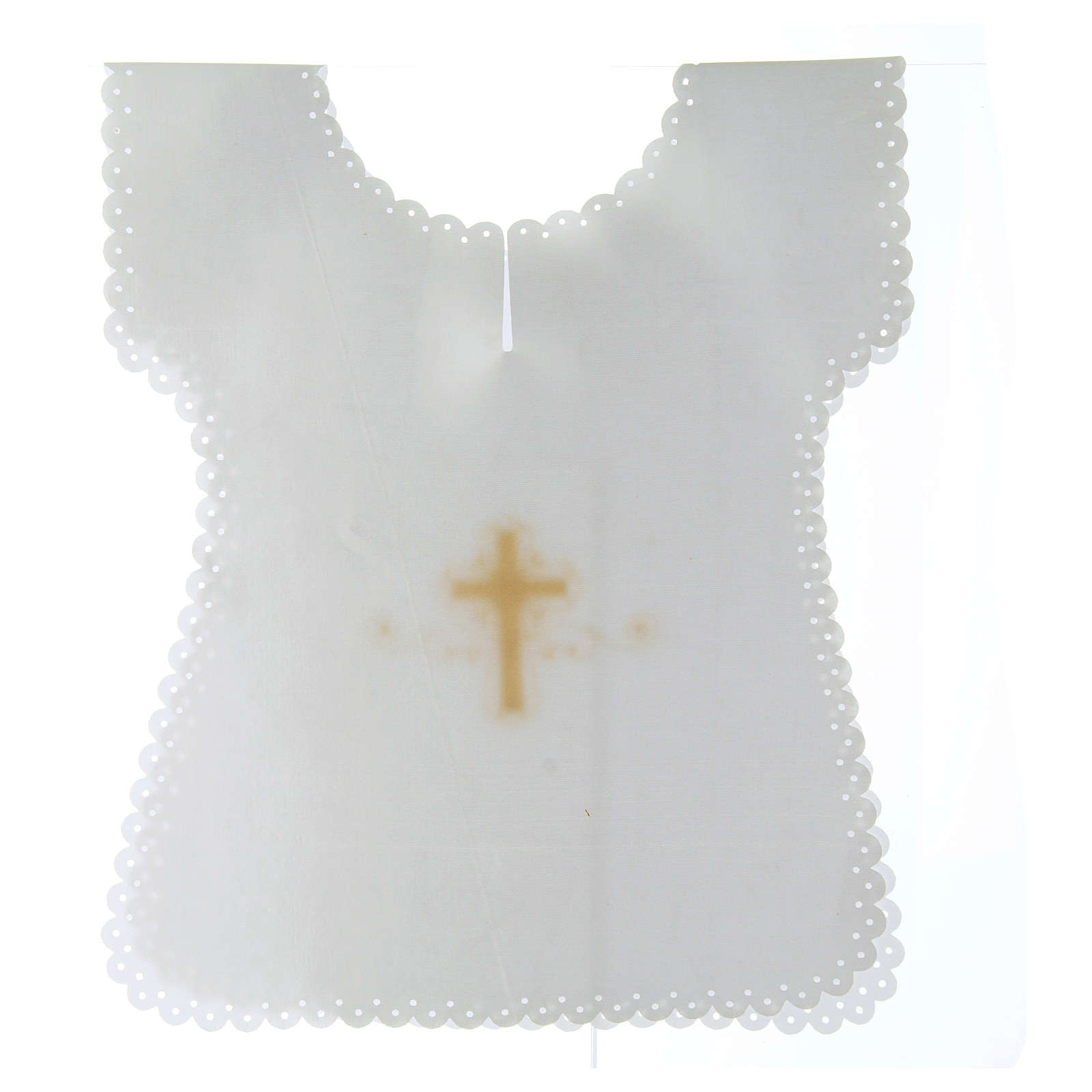 Vestina Battesimo in raso Croce oro 38X31 cm 4