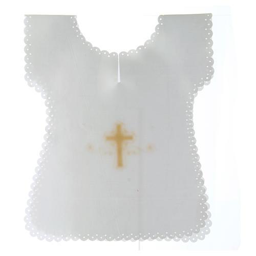 Vestina Battesimo in raso Croce oro 38X31 cm 2