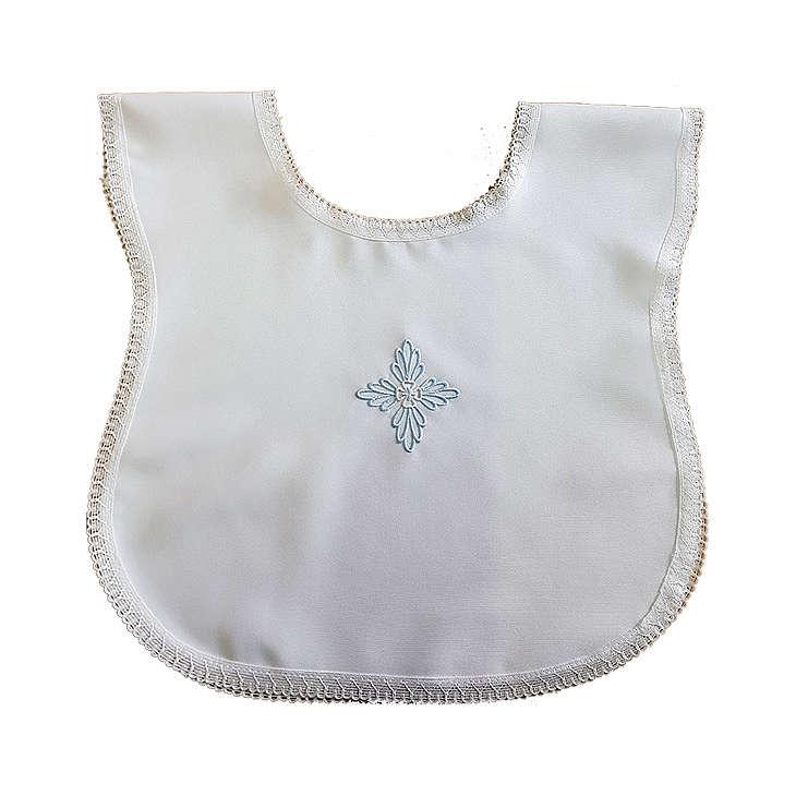 Vestina battesimo croce azzurra 4