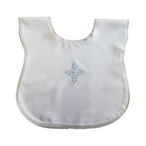 Vestina battesimo croce azzurra 1