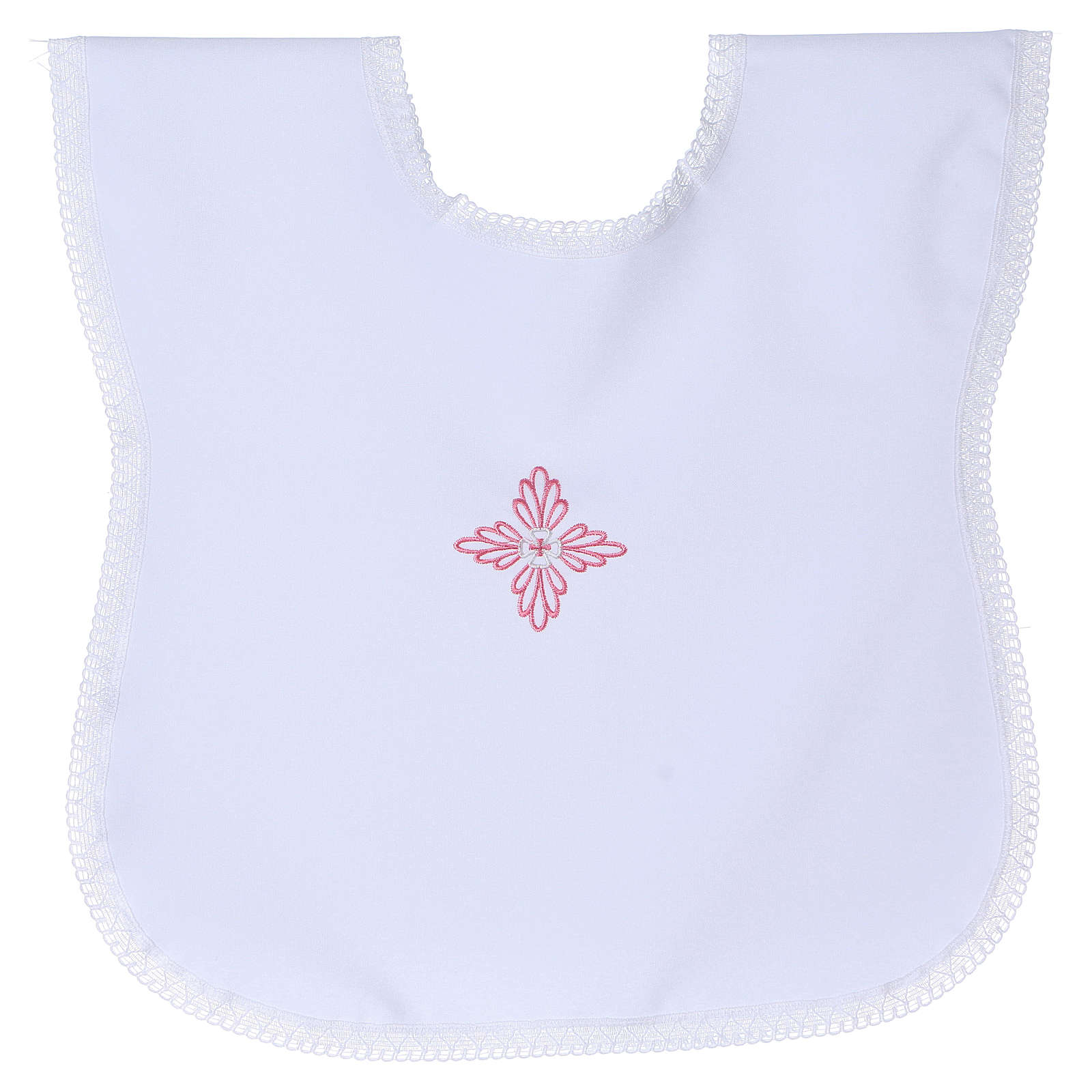 Baptism gown with pink cross 4