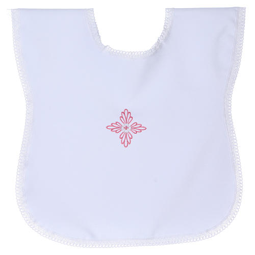 Baptism gown with pink cross 1