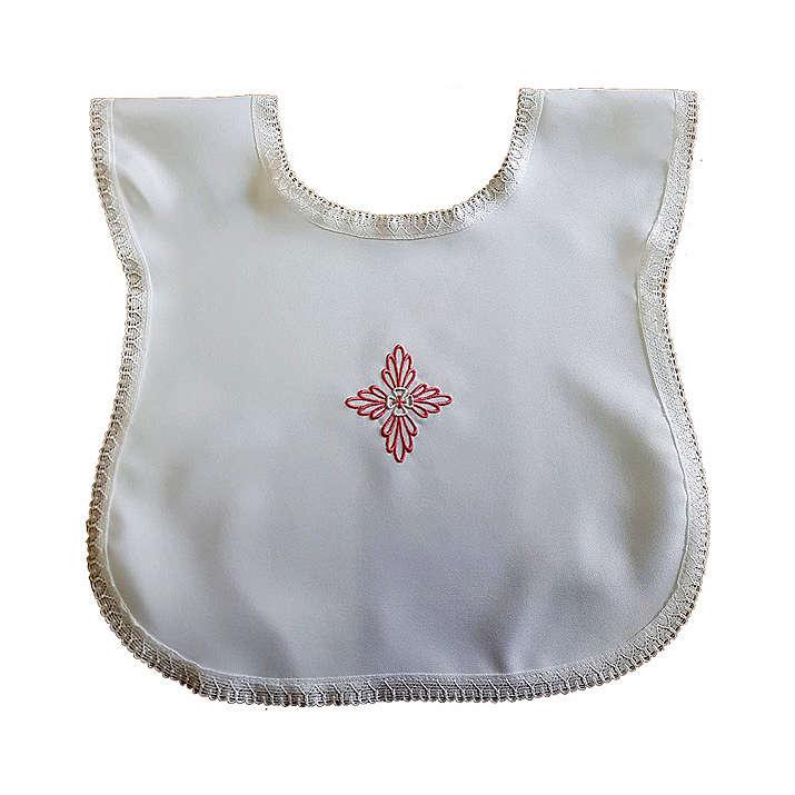 Vestina da battesimo croce rosa 4