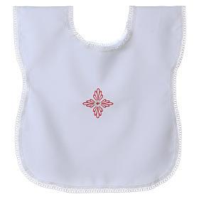 Vestina da battesimo croce rosa s1