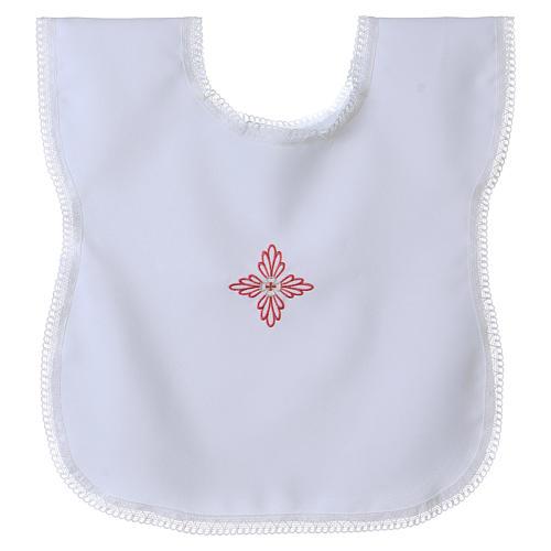 Vestina da battesimo croce rosa 1