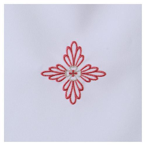 Vestina da battesimo croce rosa 2