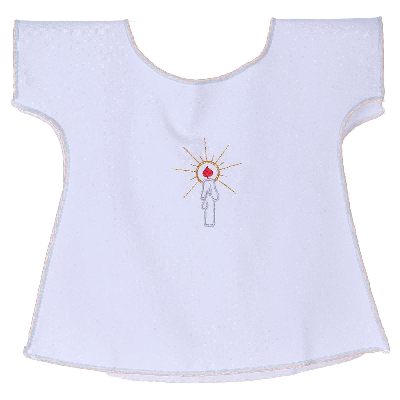 Baptism gown with candle 65% polyester 35% cotton 4