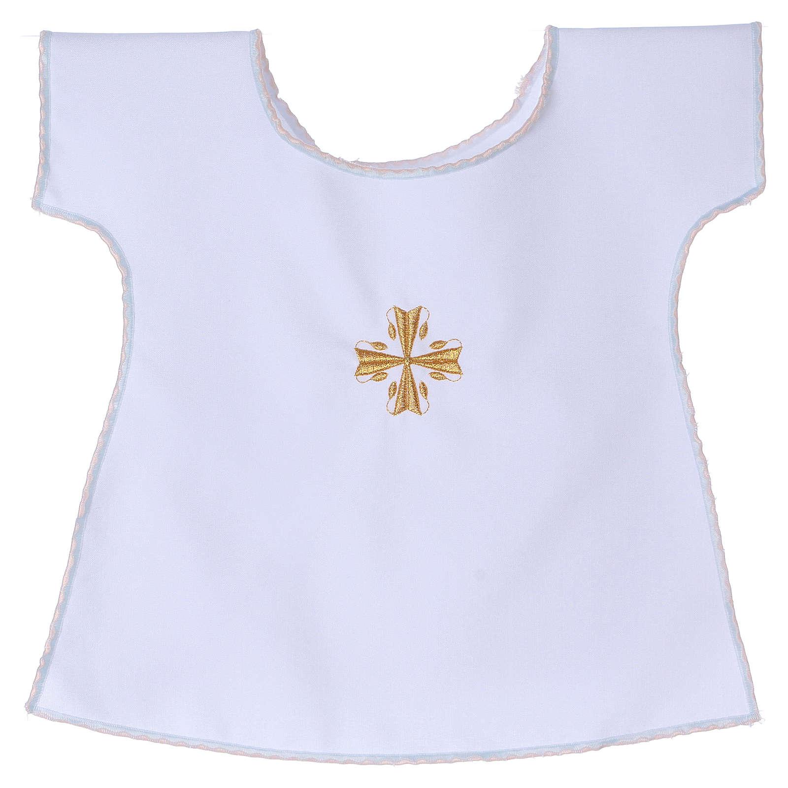Vestido Bautismo Cruz 65% poliéster 35% algodón 4
