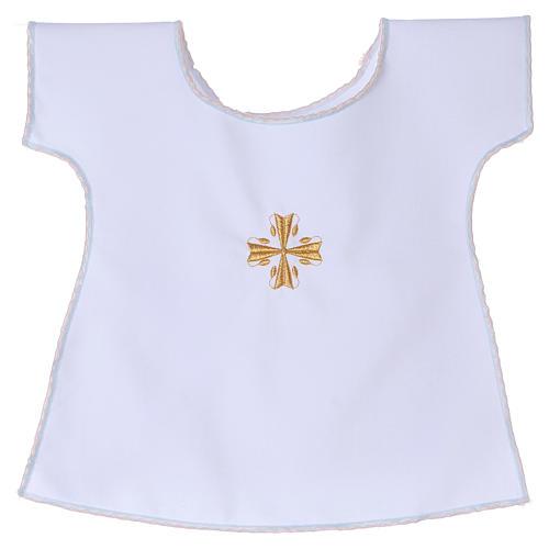 Vestido Bautismo Cruz 65% poliéster 35% algodón 1