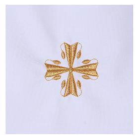 Aube baptême croix 65% polyester 35% coton s2