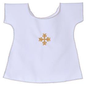 Koszulka do chrztu krzyż 65% poliester 35% bawełna s1