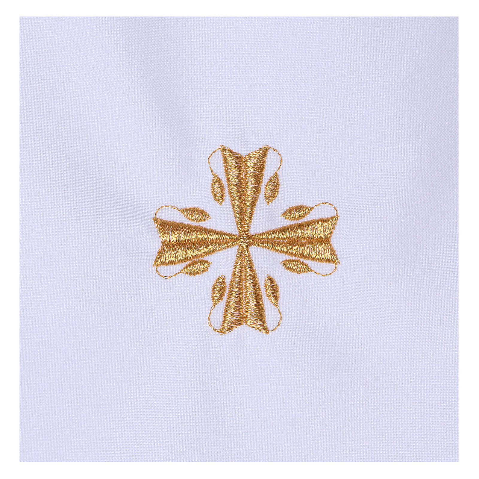 Baptism gown with cross 65% polyester 35% cotton 4
