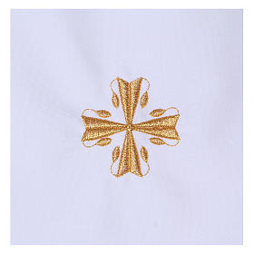 Baptism gown with cross 65% polyester 35% cotton s2