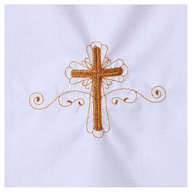 Aube pour baptême avec broderie croix s2