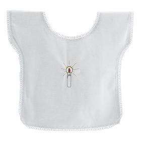 Baptismal shirt with candle 100% cotton s1