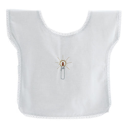 Trajecito bautismo bordado vela 100% algodón 1