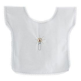 Túnica batismo bordado vela 100% algodão s1