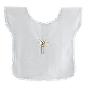 Baptismal gown 100% cotton with candle embroidery s1