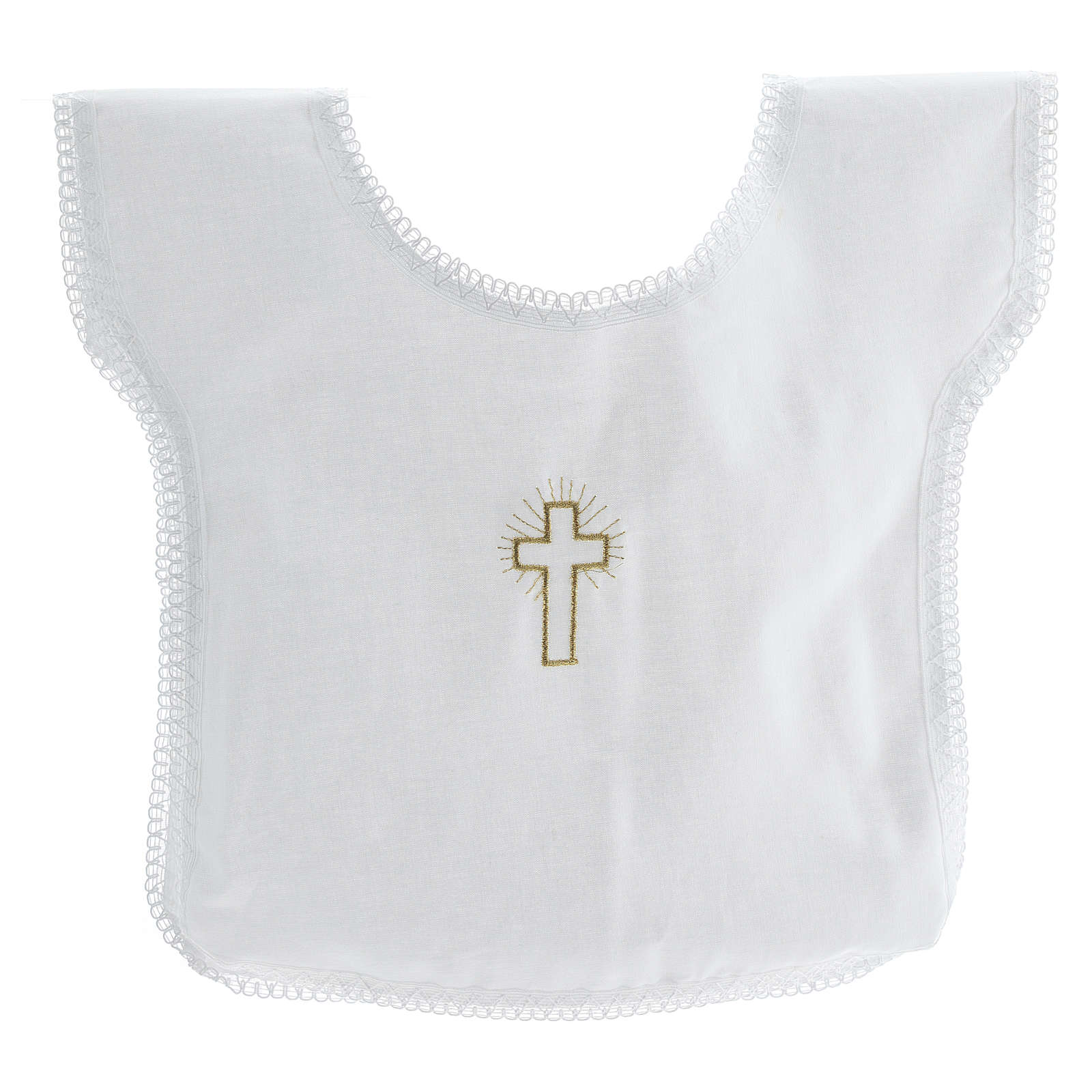 Baptismal shirt with cross 100% cotton 4